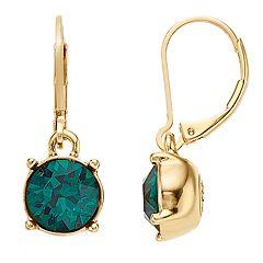 Dana Buchman Swarovski Crystal Circle Drop Earrings
