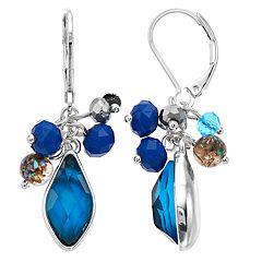 Dana Buchman Blue Bead Cluster Drop Earrings