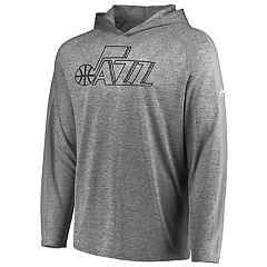 Men's Majestic Utah Jazz Fan Flow Hooded Tee