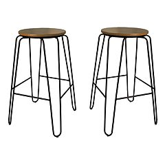 Carolina Forge Ethan Bar Stool 2-piece Set