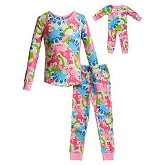 fcc6bf555 Girls 4-14 Dollie   Me Top   Bottoms Pajama Set   Matching Doll Pajama