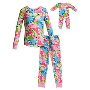 Girls 4 16 American Girl Holiday Top Bottoms Pajama Set Matching