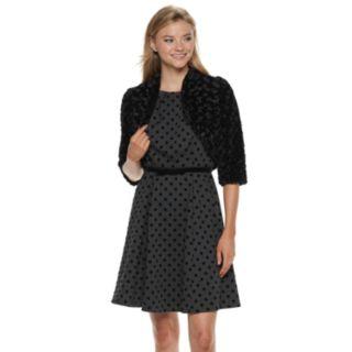 Women's ELLE? Faux-Fur Bolero Jacket