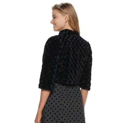 Women's ELLE? Faux-Fur Bolero Jacket