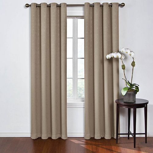 eclipse 2-pack Round & Round Thermaweave Blackout Window Curtains