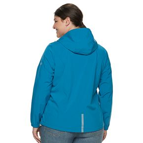 Plus Size Free Country X2O Hooded Rain Jacket