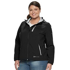 Plus Size Free Country X2O Hooded Rain Jacket