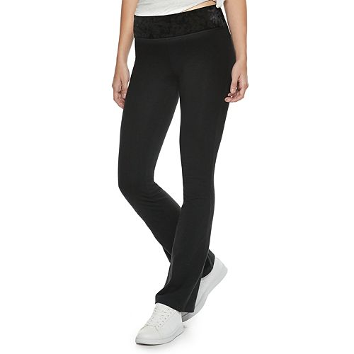 Juniors' SO® Mid-Rise Skinny Bootcut Yoga Pants