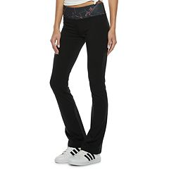 Juniors' SO® Mid-Rise Print-Waist Skinny Bootcut Yoga Pants