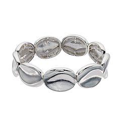 Dana Buchman Silver Tone Disc Stretch Bracelet