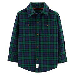 Toddler Boy Carter's Plaid Flannel Button Down Shirt