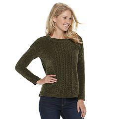 Women's SONOMA Goods for Life™ Chenille Crewneck Sweater