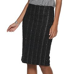 Women's Jennifer Lopez Pull-On Boucle Pencil Skirt