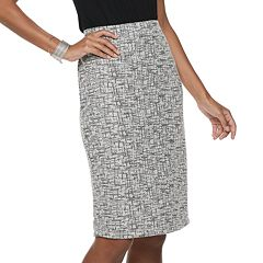 Women's Jennifer Lopez Pull-On Boucle Pencil Skirt