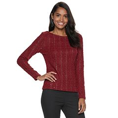 Women's Jennifer Lopez Bar-Back Boucle Top