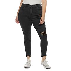 Juniors' Plus Size Mudd® High Rise Ankle Jeggings