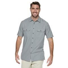 Big & Tall Croft & Barrow® Classic-Fit Heather Mesh Quick-Dry Button-Down Shirt