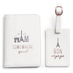 LC Lauren Conrad Paris Passport Case & Luggage Tag Set
