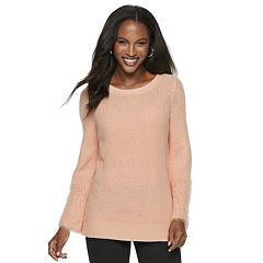 Women's Apt. 9® Eyelash Texture Bell Sleeve Crewneck Sweater