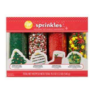 Wilton Mega Merry Holiday Sprinkles 4-pack