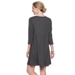 Women's SONOMA Goods for Life? Supersoft Crewneck Swing Dress
