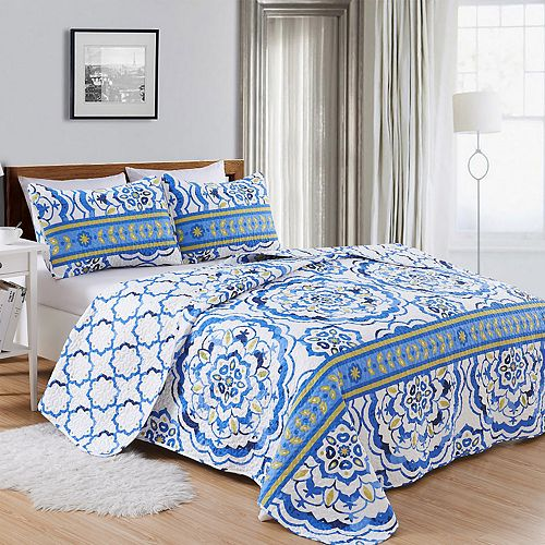 Home Fashion Designs Farrah Collection Quilt Set