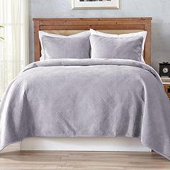Home Fashion Designs Velvet Plush Reversible Quilt Set