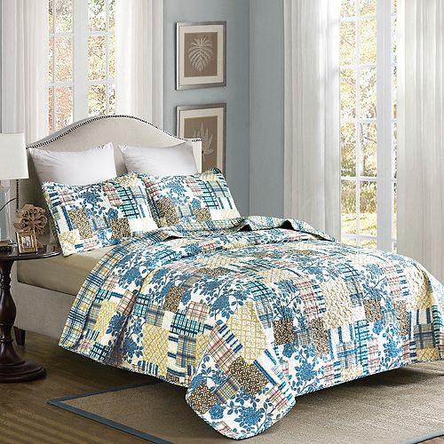 Home Fashion Designs Blue Hill Collection Quilt Set