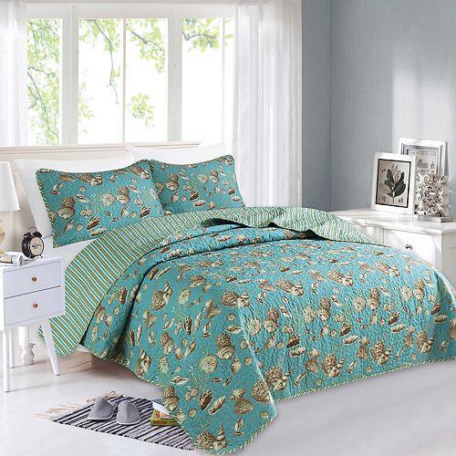 Home Fashion Designs Seychelles Collection Quilt Set