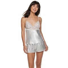 Women's Apt. 9® Satin Lace Cami & Shorts Pajama Set