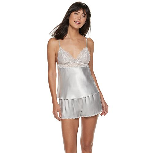 ba080f76fdc516 Women s Apt. 9® Satin Lace Cami   Sleep Shorts Pajama Set