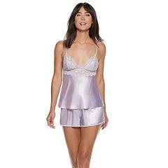 Women's Apt. 9® Satin Lace Cami & Shorts Pajama Set