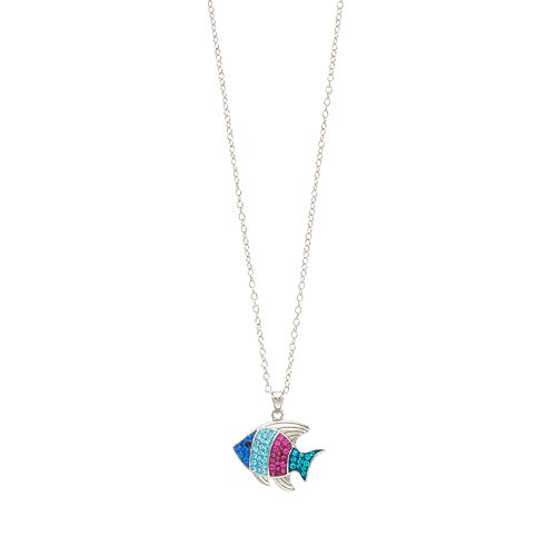 Silver Tone Fish Pendant Necklace