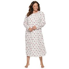 Plus Size Croft & Barrow® Printed Crewneck Nightgown
