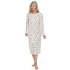 Petite Croft & Barrow® Printed Crewneck Nightgown
