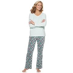 fa6424b3dd Women s Croft   Barrow® Microfleece V-Neck Sleep Top   Pants Pajama Set