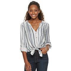 Juniors' Candie's® Tie Front Tunic