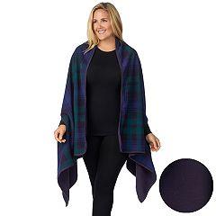 Plus Size Cuddl Duds Reversible Blanket Wrap