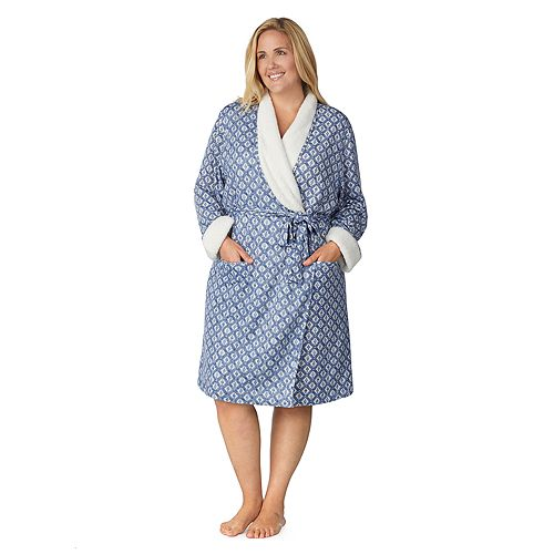 Plus Size Cuddl Duds Sherpa Lined Robe