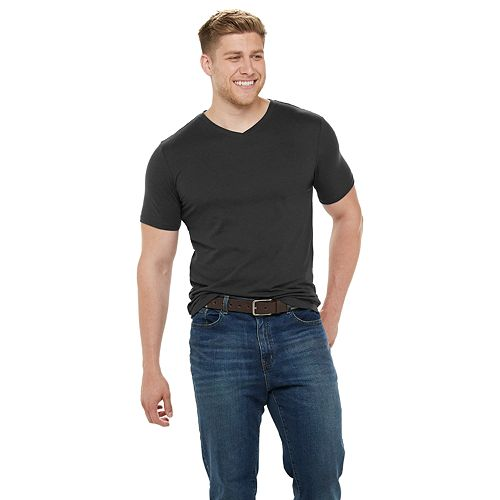 Big & Tall SONOMA Goods for Life® Supersoft Solid Slim-Fit V-Neck Tee