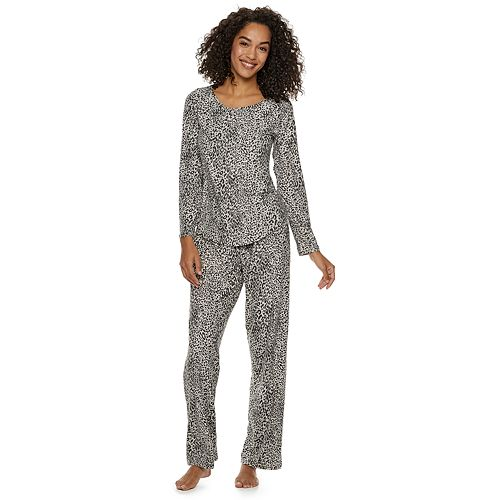 881044fd59ad Women s Gloria Vanderbilt Printed Sleep Top   Pants Pajama Set