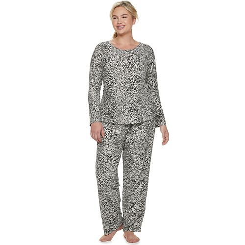 64f0b1c43d60 Plus Size Gloria Vanderbilt Printed Sleep Top   Pants Pajama Set