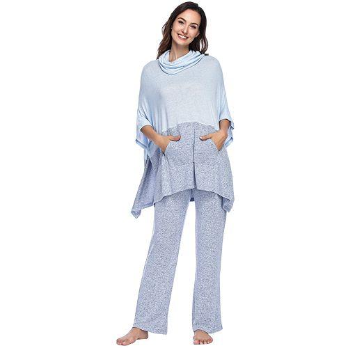 Women's INK + IVY Colorblock Poncho Top & Pants Pajama Set