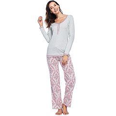 Women's INK + IVY Henley & Lounge Pants Pajama Set