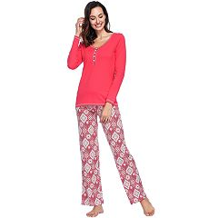 Women's INK + IVY Henley & Lounge Pants Pajama Set