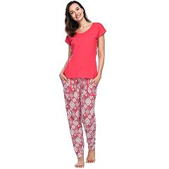 Women's INK + IVY Tee & Joggers Pajama Set