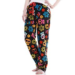 Juniors' Coco Sugar Skulls Plush Pajama Pants