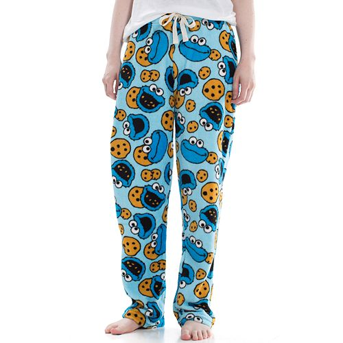 Juniors' Cookie Monster Plush Pajama Pants