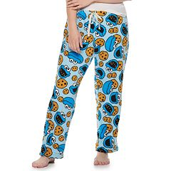 Plus Size Cookie Monster Plush Pajama Pants