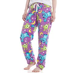 Juniors' Monsters Inc. Mike and Sulley Plush Pajama Pants